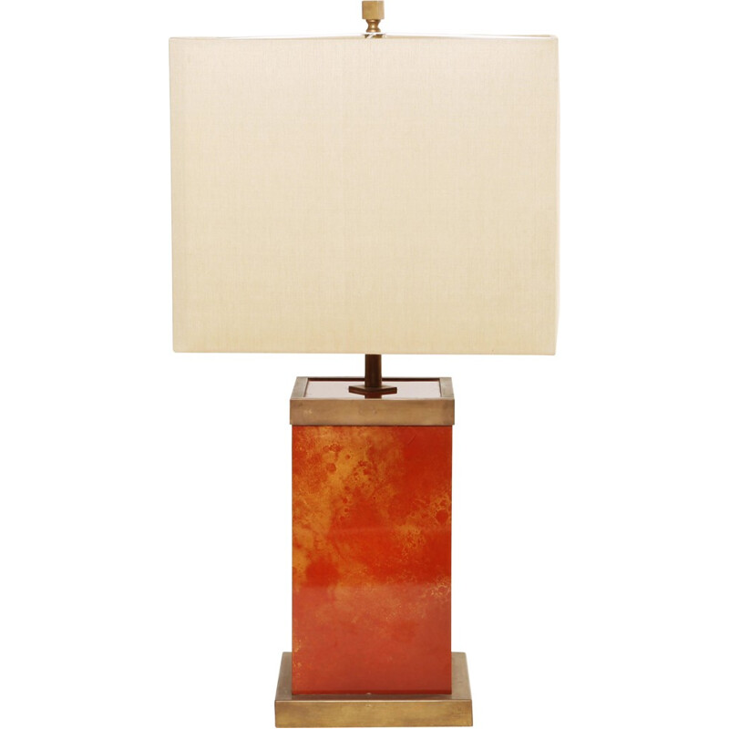 Table lamp in lacquered brass, Romeo REGA - 1970s
