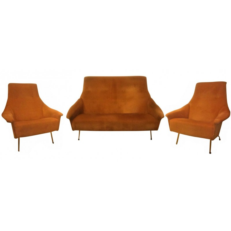 Fabulous Vintage Lounge Set Sofa And Armchairs Guy Besnard With Loungeset  Design
