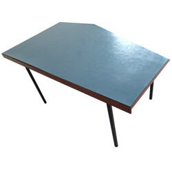 Mid century Minvielle dining table in melamine - 1950s