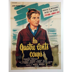 """Movie poster """"The 400 blows"""" - 1950s"""