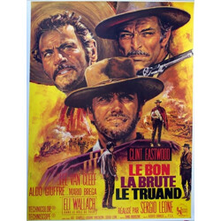 """Movie poster """"The good, the bad and the ugly"""" - 1960s"""