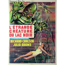 """Movie poster vintage """"Creature from the Black Lagoon"""" - 1960s"""