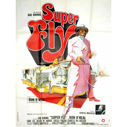 """Movie poster """"Super fly"""" - 1970s"""