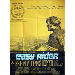 """Movie poster """"Easy rider"""" - 1960s"""