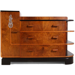 English chest of drawers in walnut - 1930s
