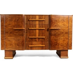 Small English walnut sideboard - 1950s