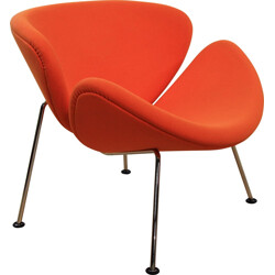 "Artifort ""Orange Slice"" lounge chair in orange fabric, Pierre PAULIN - 1970s"