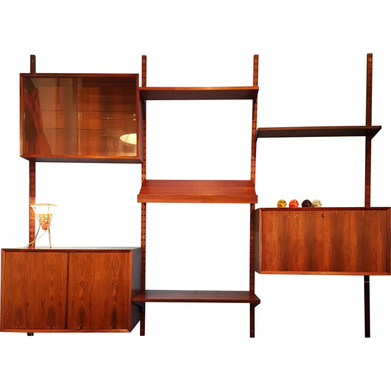 Vintage modular storage system in rosewood, Poul CADOVIUS - années 50