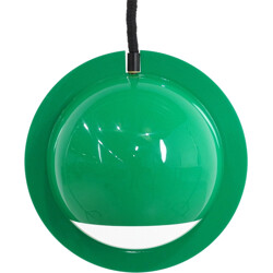 Italian hanging lamp in green acrylic glass - 1970s