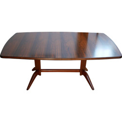 "English Broadway ""Burford"" dining table in rosewood and mahogany, Gordon RUSSELL - 1950s"