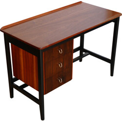 Small desk in mahogany and rosewood - 1950s