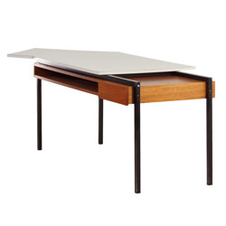 """My Home Bas van Pelt"" desk in teak, metal and formica, - 1950s"