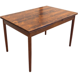 Extendable rosewood dining table - 1950s