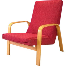 Mid century armchair in wood and fabric, A.R.P. - 1950s