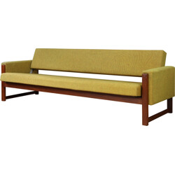 Pastoe daybed sofa in teak and green fabric, Yngve EKSTRÖM - 1960s