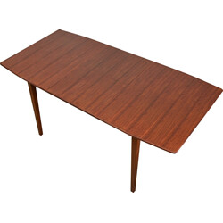 English extendable Maple dining table in walnut - 1960s