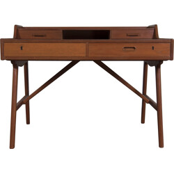 Vinde Møbelfabrik writing desk in teak, Arne Wahl IVERSEN - 1960s