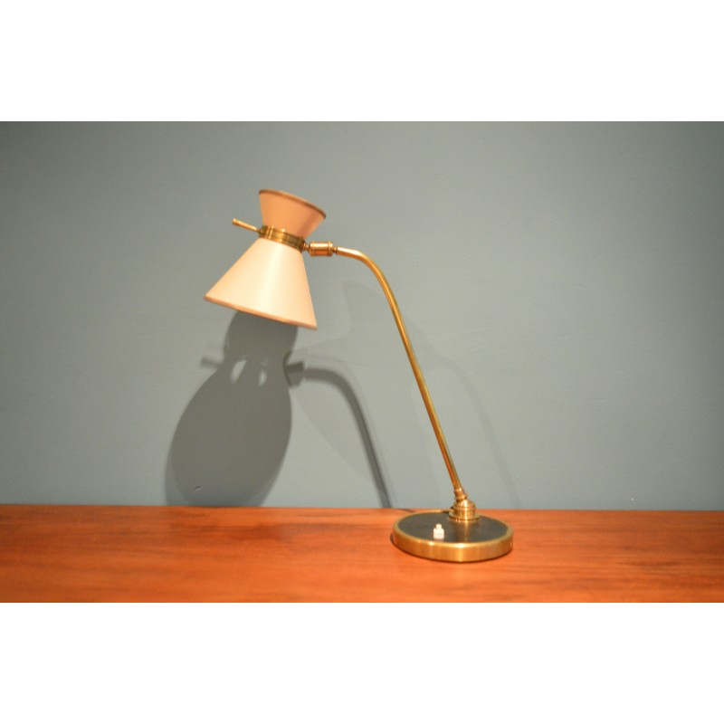 French Lunel Table Lamp In Brass And Paper 1960s Design Market