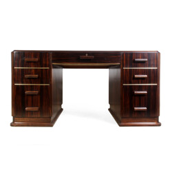 Vintage Macassar desk with drawers - 1930s