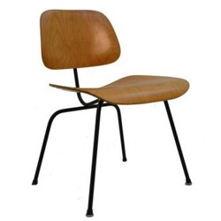 Wood and metal DCM chair, Charles and Ray Eames - 1950s