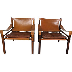 "Pair of ""Sirocco"" chairs, Arne NORELL - 1960s"