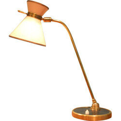French Lunel table lamp in brass and paper - 1960s