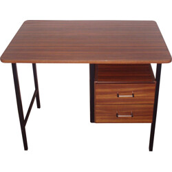Mid-century desk in formica and metal - 1950s