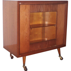 Mid-century oak and formica bar - 1950s