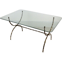 Mid century rectangular Maison Bagues coffee table - 1960s