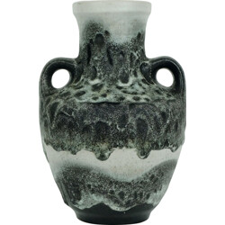 German Carstens Toennishof vase in grey ceramic - 1960s