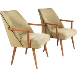 Pair of Belgian mid century lounge chairs - 1960s