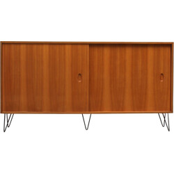 High WK cabinet in walnut with metal hairpin legs, Georg SATINK - 1950s