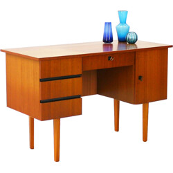 Mid century desk in walnut with drawers - 1960s