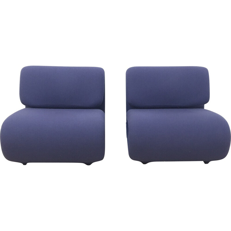 "Pair of ""1500"" lounge chairs, Etienne-Henri MARTIN - 1970s"