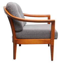 Mid century reupholstered armchair, Wilhelm KNOLL - 1960s