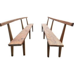 2 large church benches - 1940s