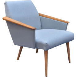 Blue squared armchair - 1960s
