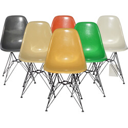 """Set of 6 Herman Miller """"DSR"""" chairs, Charles & Ray EAMES - 1960s"""