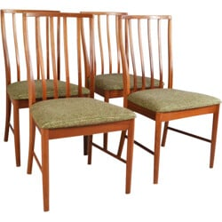 Set of 4 high backed dining chairs in teak - 1970's