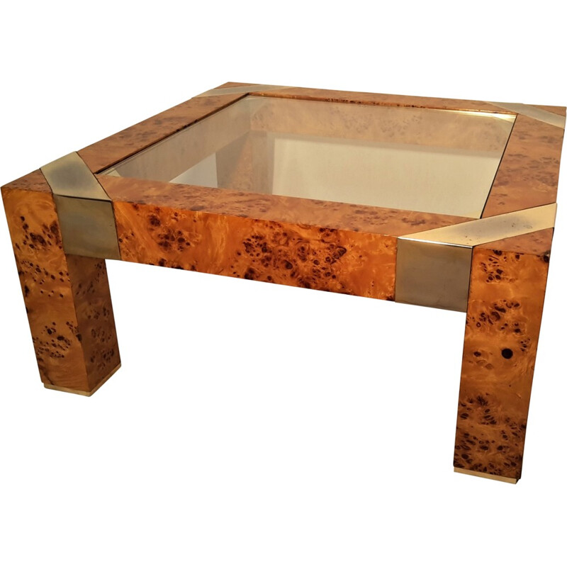 Burl coffee table, Milo BAUGHMAN - 1970s