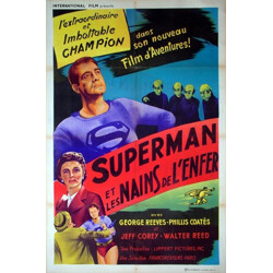 "Movie poster ""Superman and the mole men"" - 1950s"