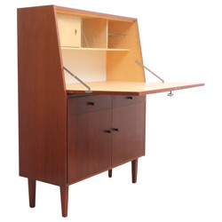 Mid century secretary in wood veneer - 1950s