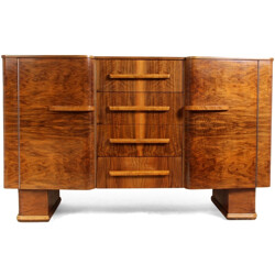 British cabinet in walnut - 1950s