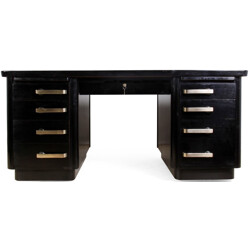 Black British desk in brass - 1950s