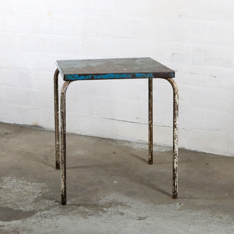 xavier pauchard french industrial dining room furniture seat industrial tolix side table in metal xavier pauchard 1950s design market