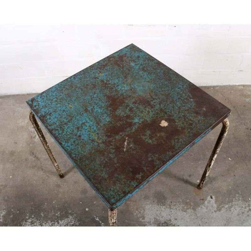 xavier pauchard french industrial dining room furniture industrial tolix side table in metal xavier pauchard 1950s vintage designer furniture previous 1950s