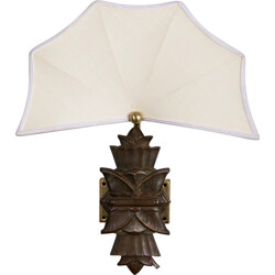 Wall lamp in brass and fabric - 1940s