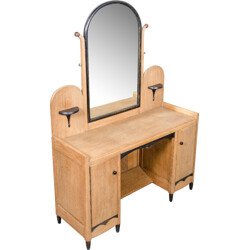 Dutch dressing table in oak with mirror - 1930s