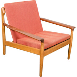 Dutch Bovenkamp easy chair in oak and teak, Aksel BENDER MADSEN - 1960s