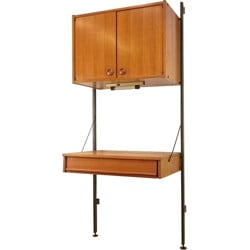 Mid century storage sytem with desk, Poul CADOVIUS - 1960s